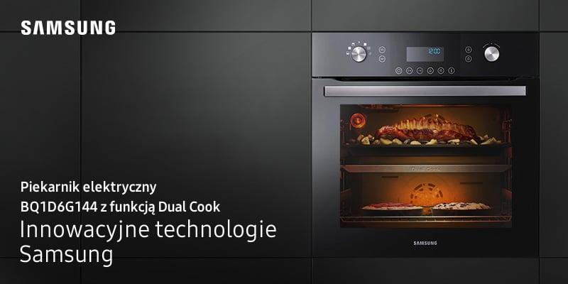 Piekarnik elektryczny z funkcją Dual Cook i funkcją pary