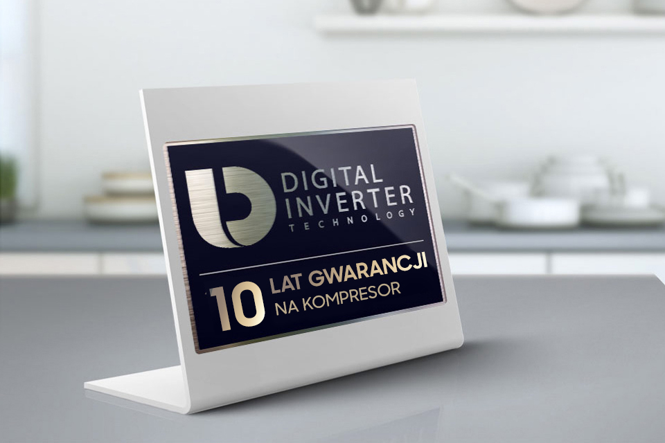 Samsung 10 lat gwarancji. Kompresor Digital Inverter