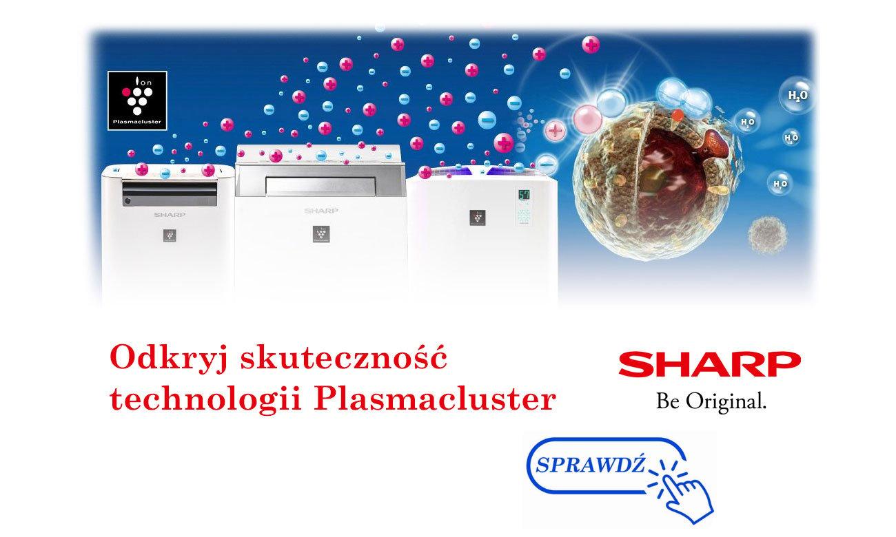 System Plasmacluster Ion w oczyszczaczach powietrza Sharp