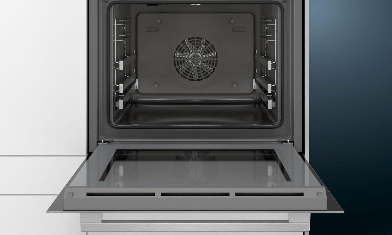 drzwi piekarnika Siemens HB557G4W0 otwierają i zamykają się lekko i cicho