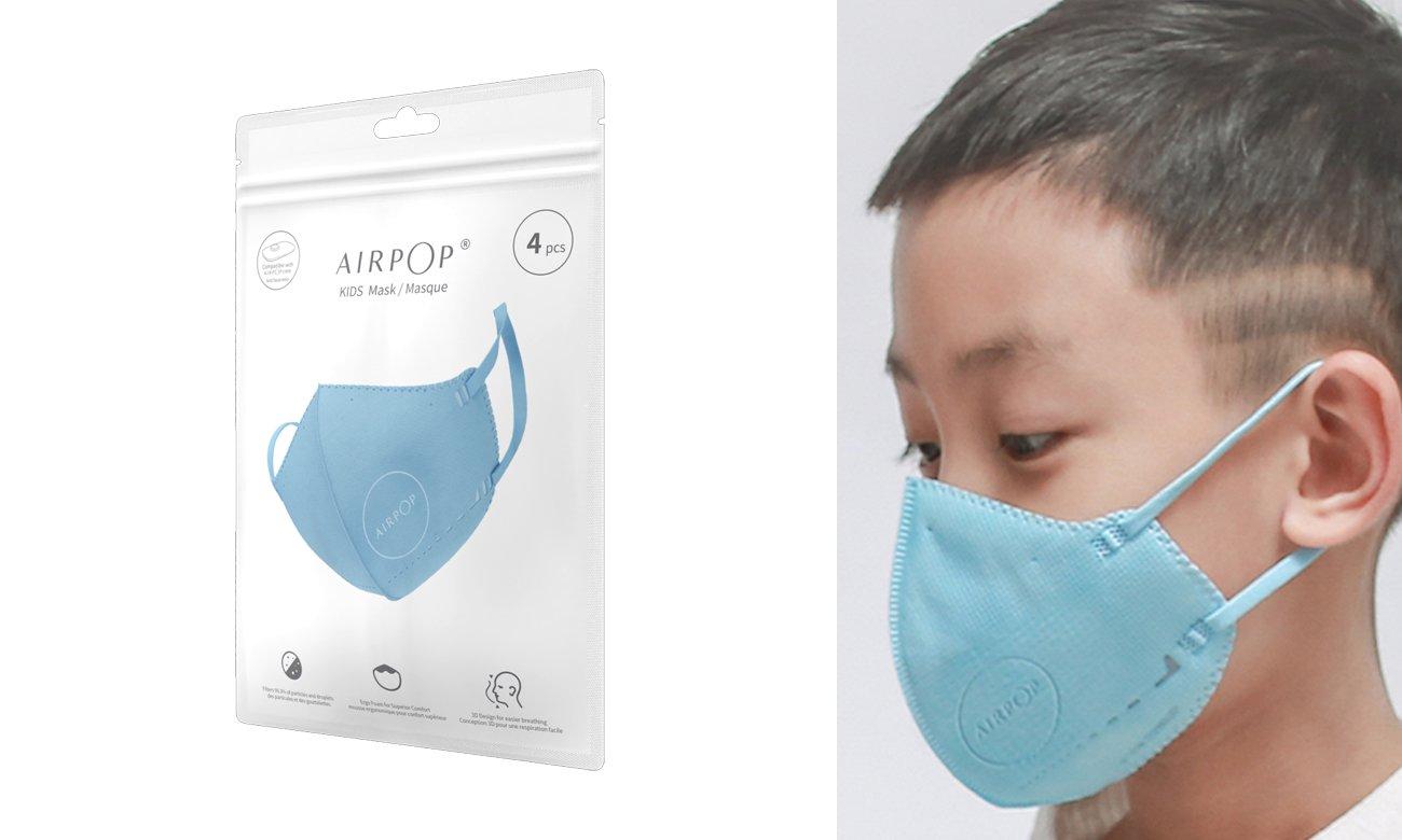 Maska ochronna Xiaomi AirPop Kids NV 4 szt niebieska