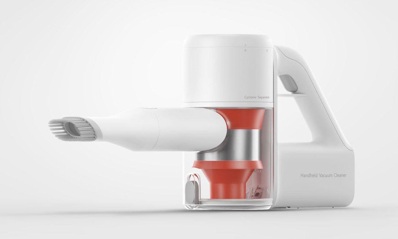 Odkurzacz Xiaomi Mi Handheld Vacuum Cleaner umożliwia higieniczne opróznianie pojemnika na kurz
