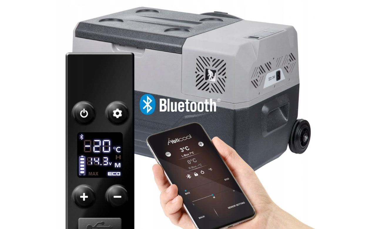 Sterowanie smartfonem lodówką turystyczną Yeticool BX30