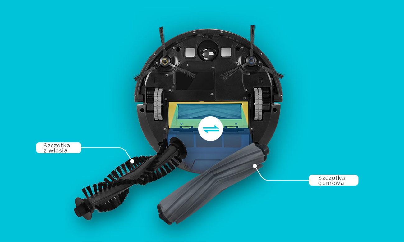 Robot Zaco A9s ma wymienne szczotki centralne