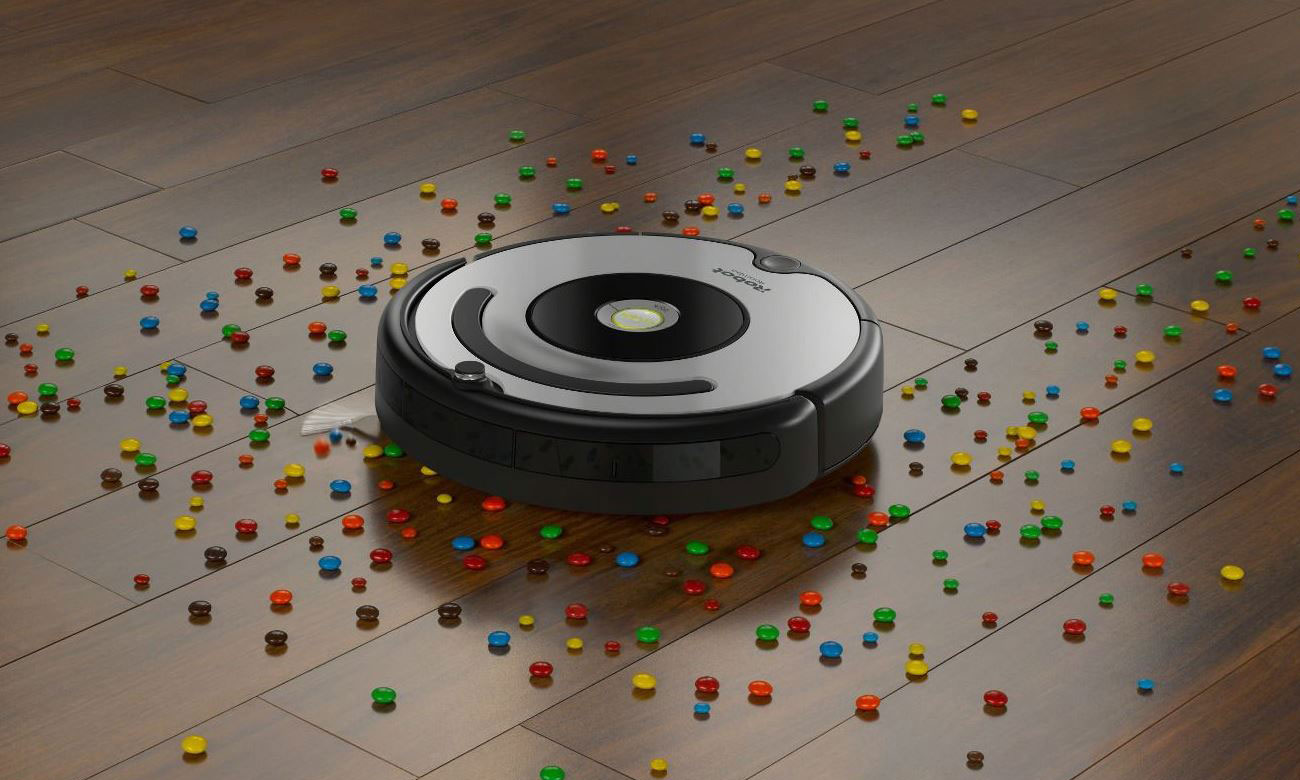 Odkurzacz iRobot Roomba 615 czyścy każdy rodzaj powierzchni