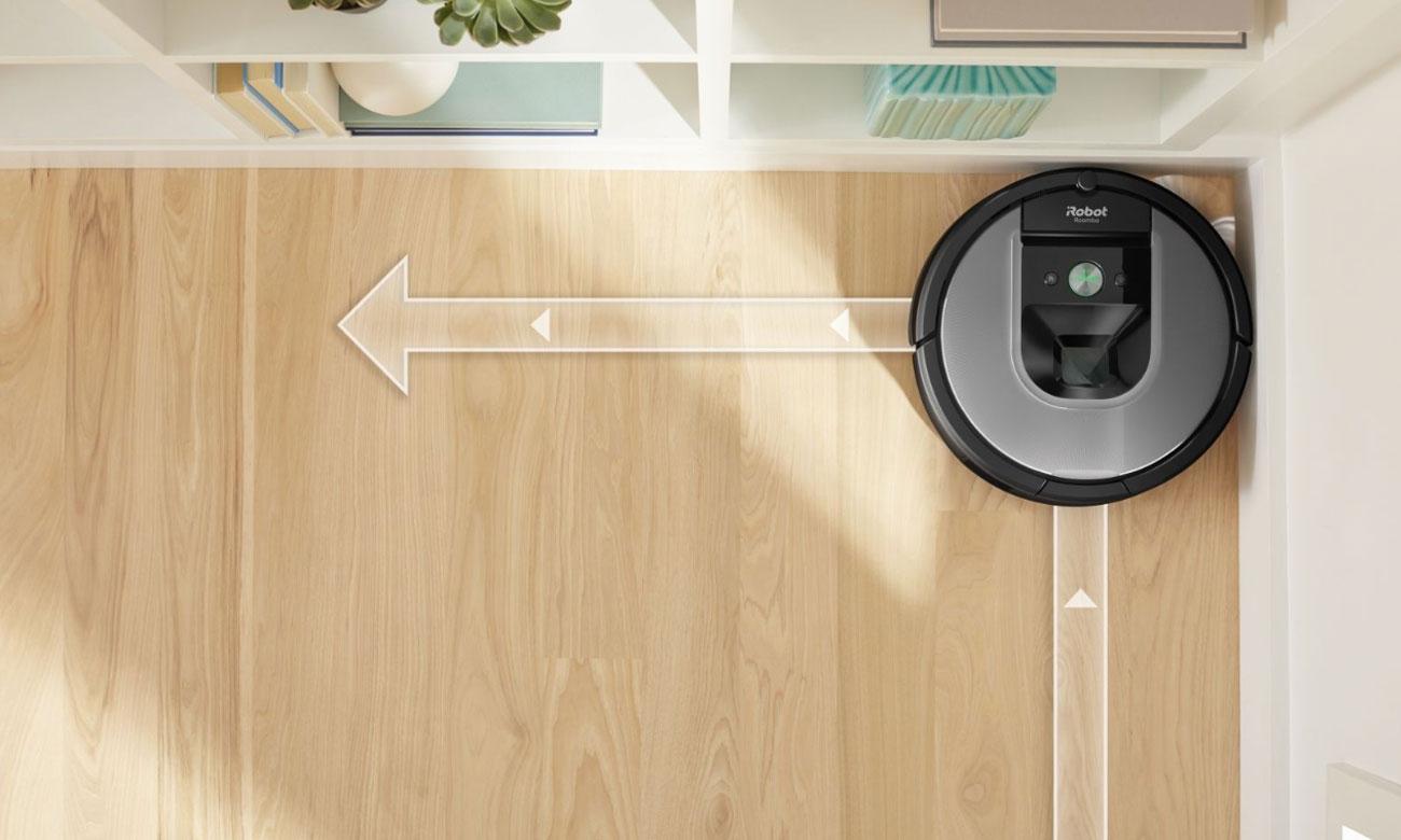 Robot sprzątający iRobot Roomba 960 sprząta przy krawędziach i w narożnikach