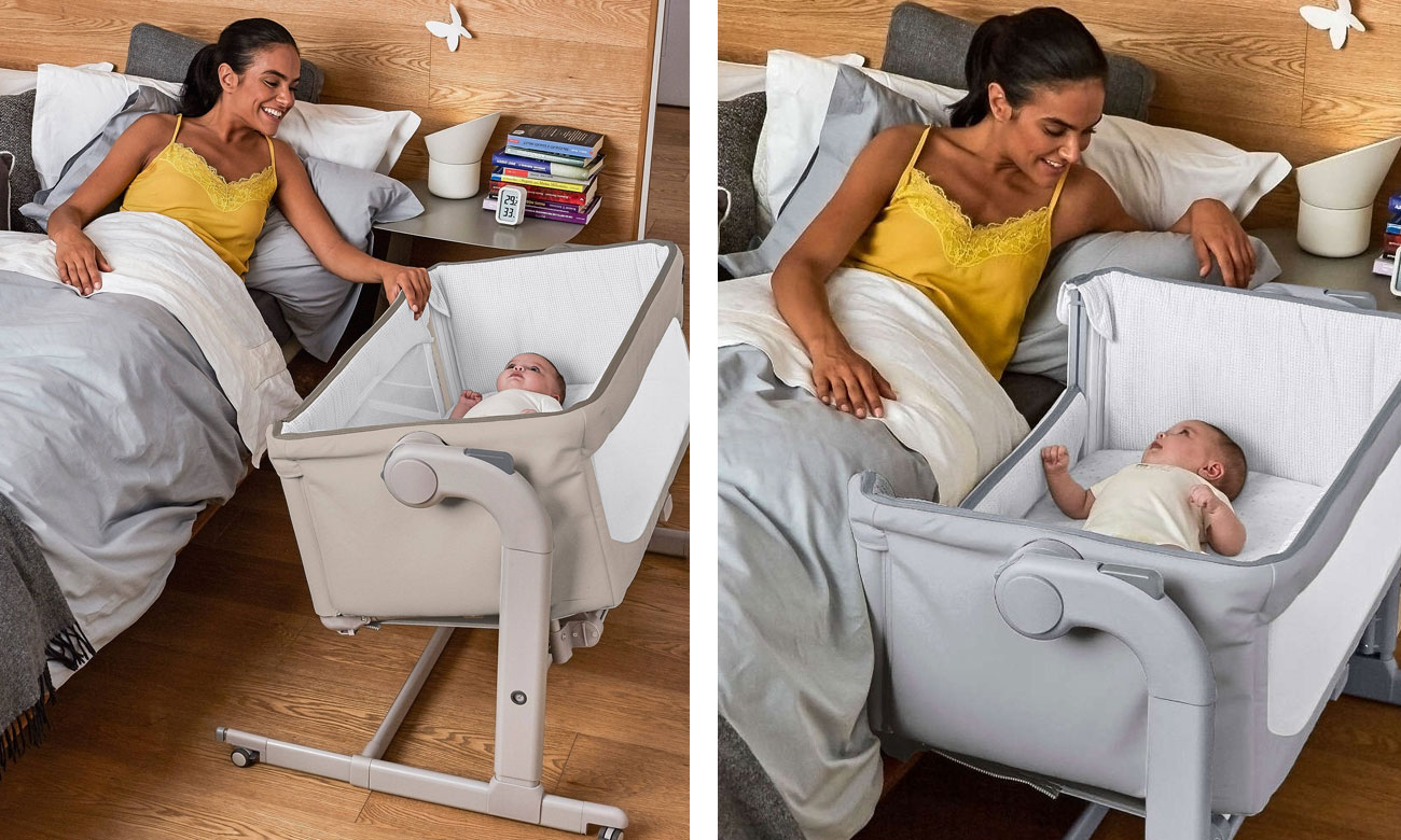 Łóżeczko dla niemowląt z funkcją kołyski Chicco Next2me Magic