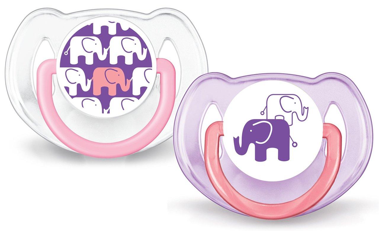 philips zestaw 2 silikonowych smoczków ortodontycznych