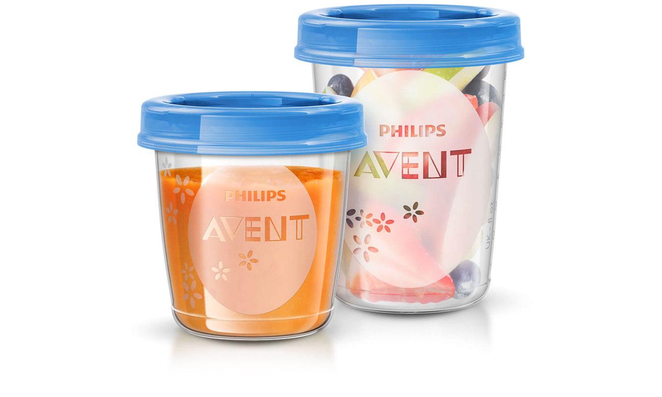 Philips Avent Pojemniki na pokarm z pokrywkami, łatwość użytkowania