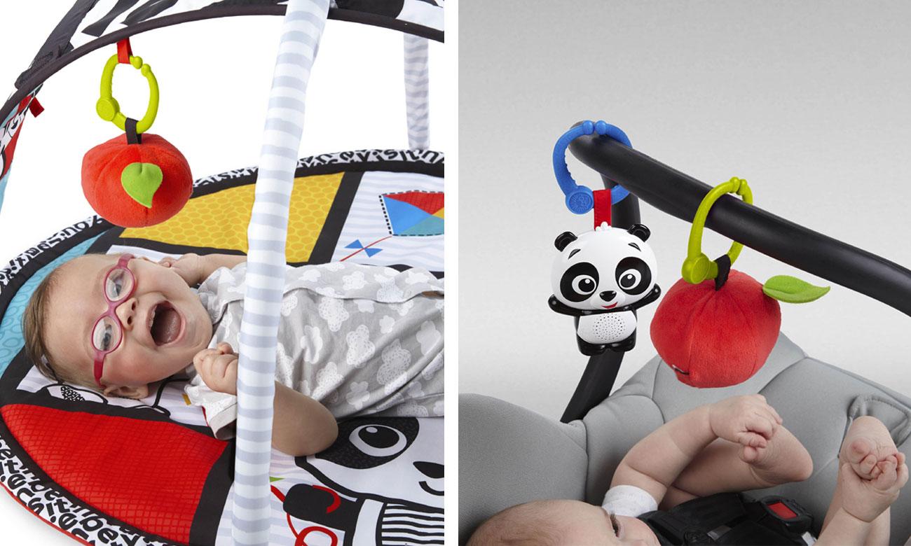 Mata edukacyjna z zabawkami Bright Starts Sensory Panda