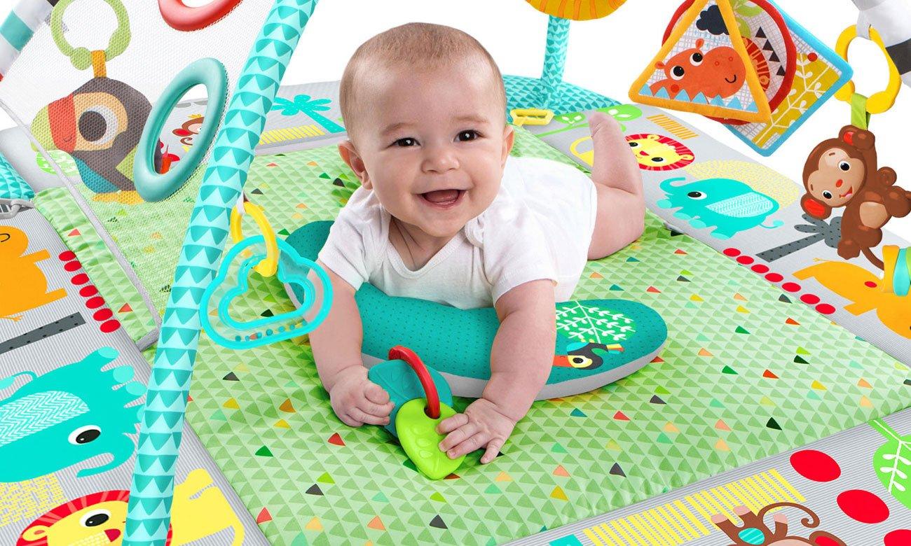 bright starts mata plac zabaw z piłeczkami