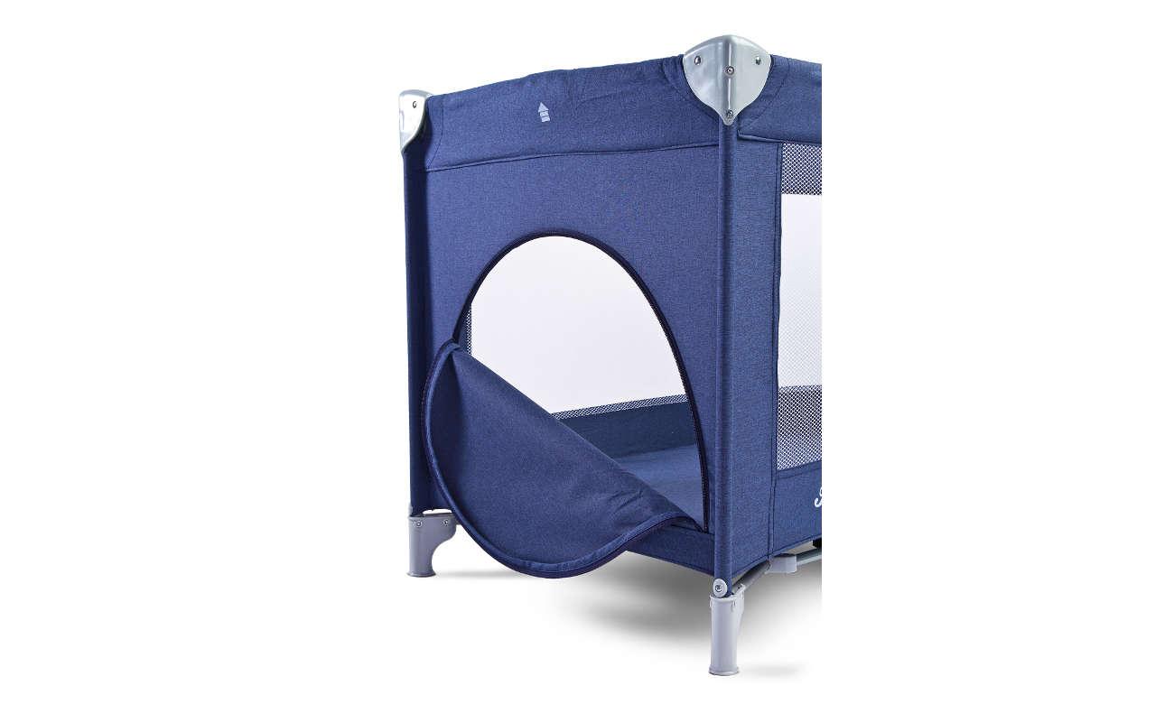 Szare łóżeczko Caretero Basic Plus