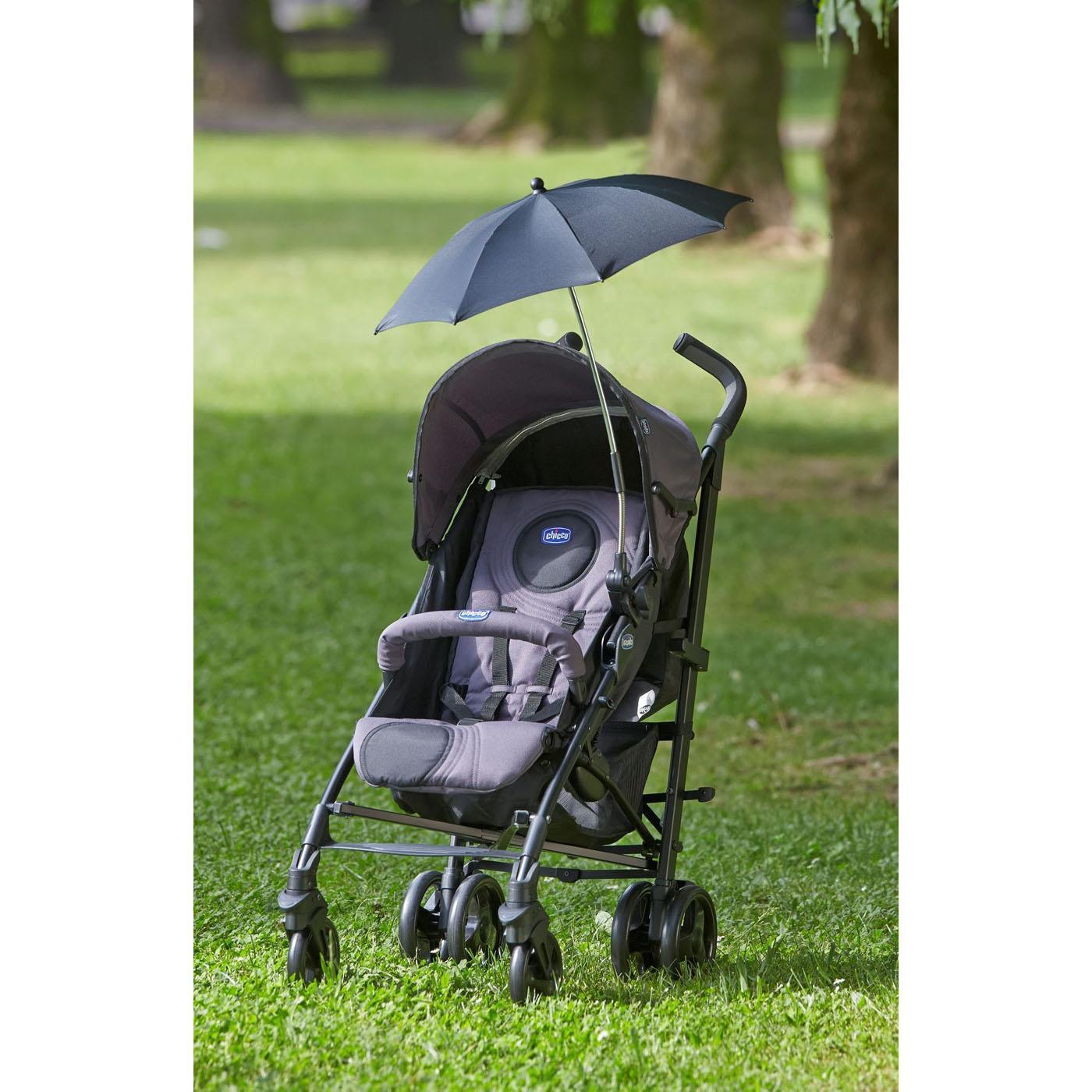 Parasolka do wózka Chicco czarna łatwa w montażu