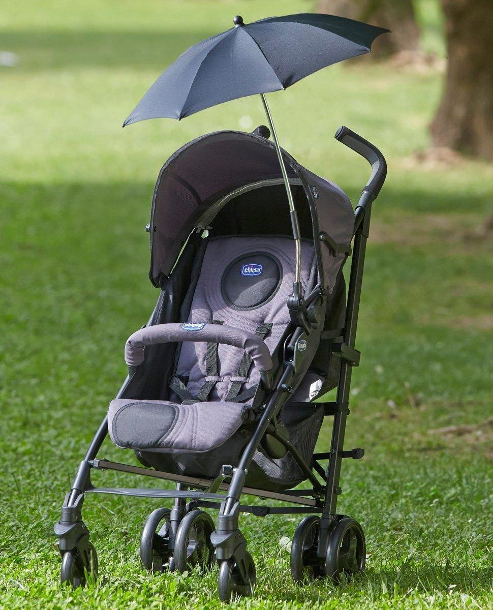 Parasolka do wózka Chicco beżowa łatwa w montażu