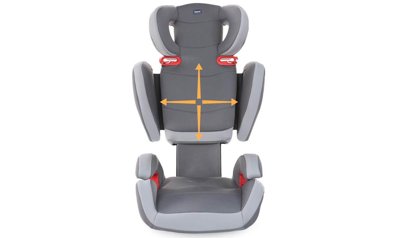 Pasy bezpieczeństwa w foteliku Key 2-3