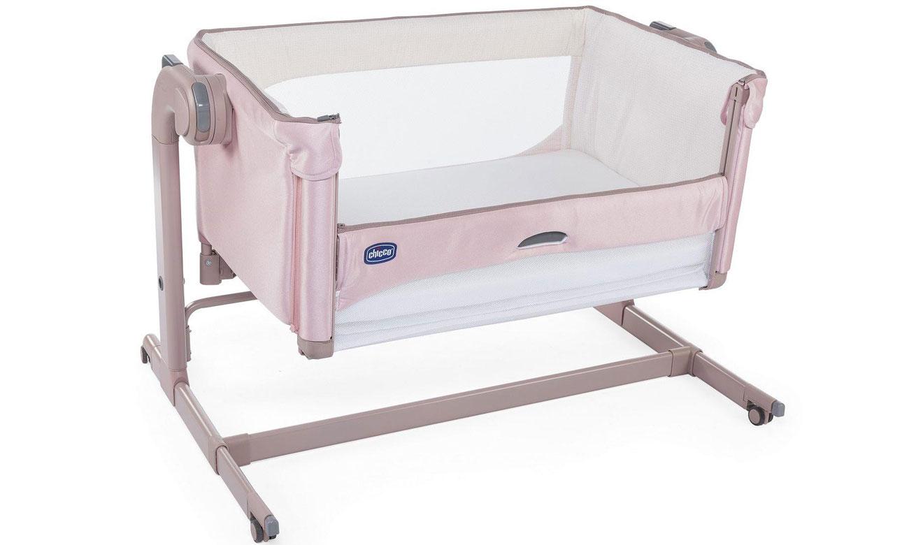 Łóżeczko dostawne Chicco Next2me Magic Candy Pink 8058664108947