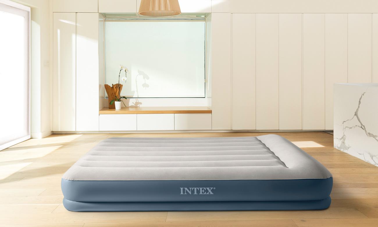 INTEX Dmuchane łóżko Dura-Beam Standard Queen z poduszką