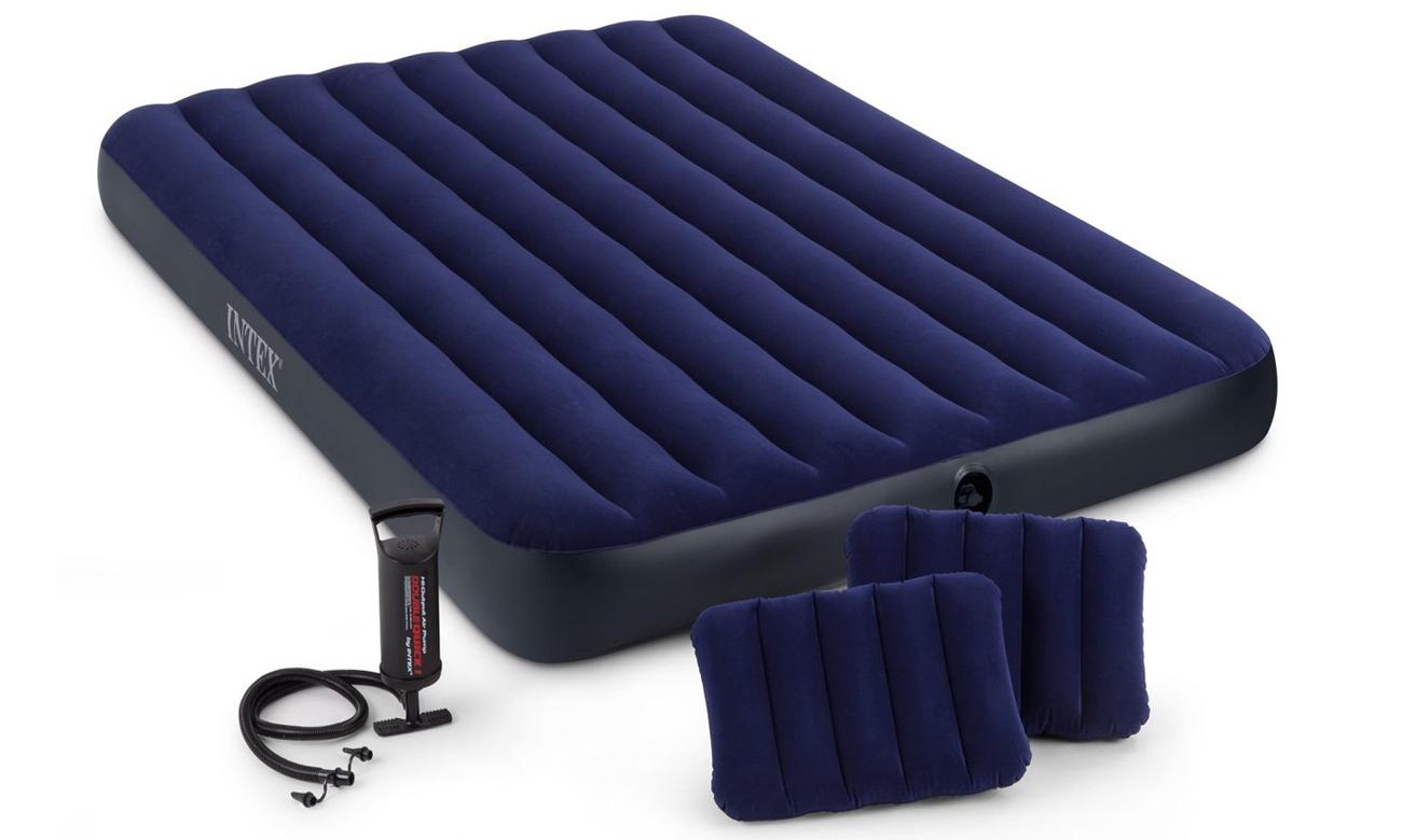 INTEX Dmuchane łóżko Dura-Beam Standard Classic Queen Zestaw