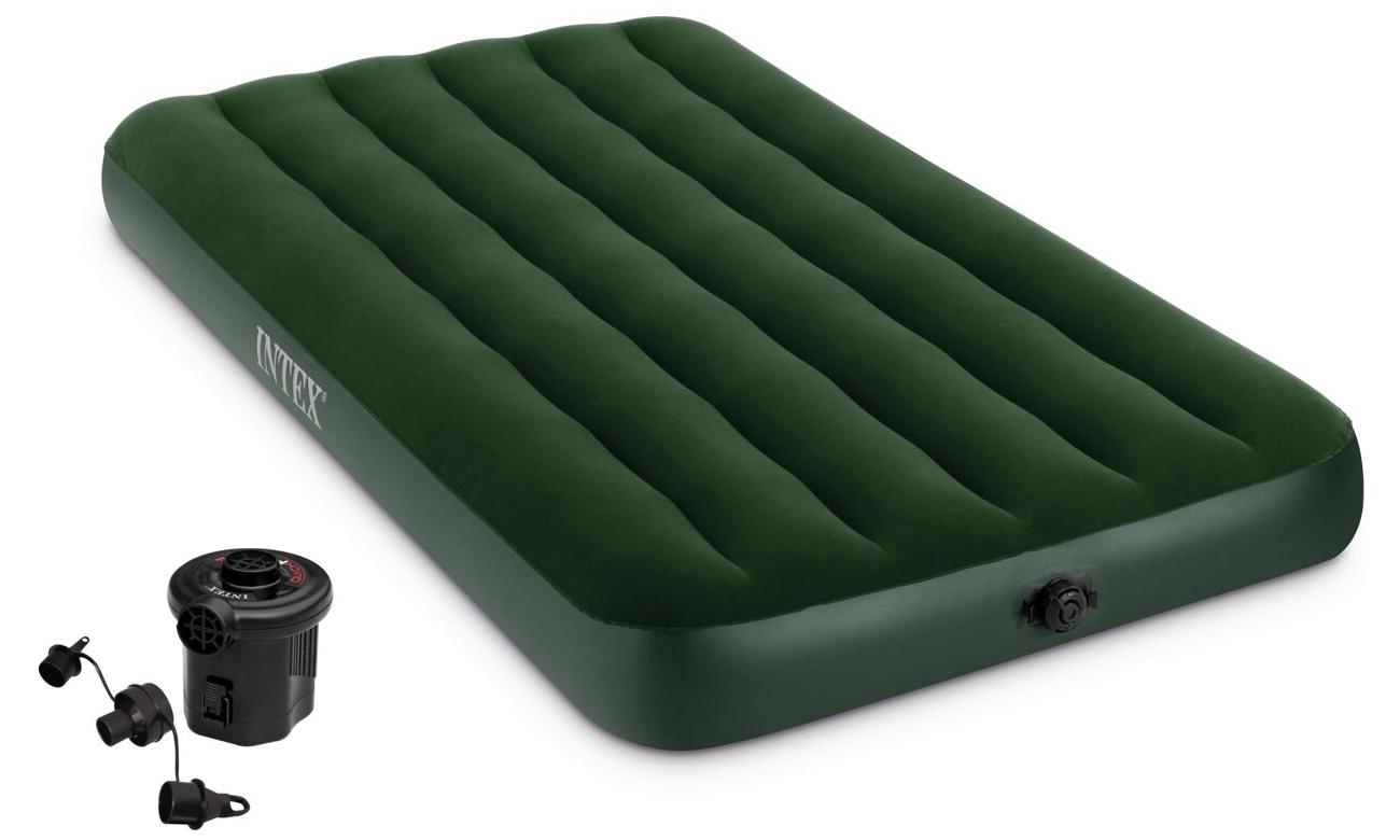 INTEX Dmuchane łóżko Prestige Twin z pompką na baterie