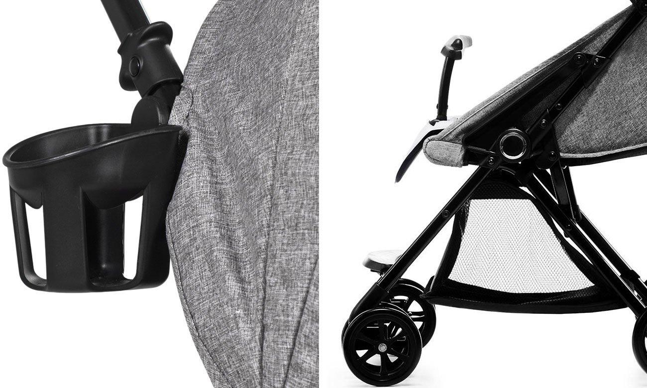 Spacerowy wózek dla dzieci KinderKraft Lite Up Grey