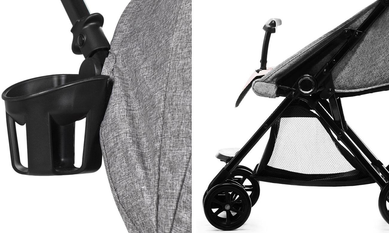 Spacerowy wózek dla dzieci KinderKraft Lite Up Pink