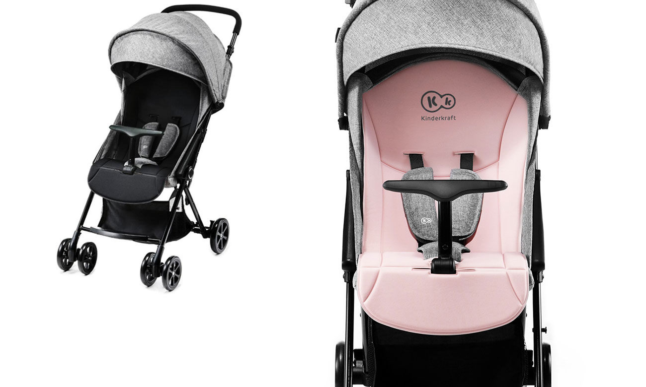 Praktyczna spacerówka KinderKraft Lite Up Pink