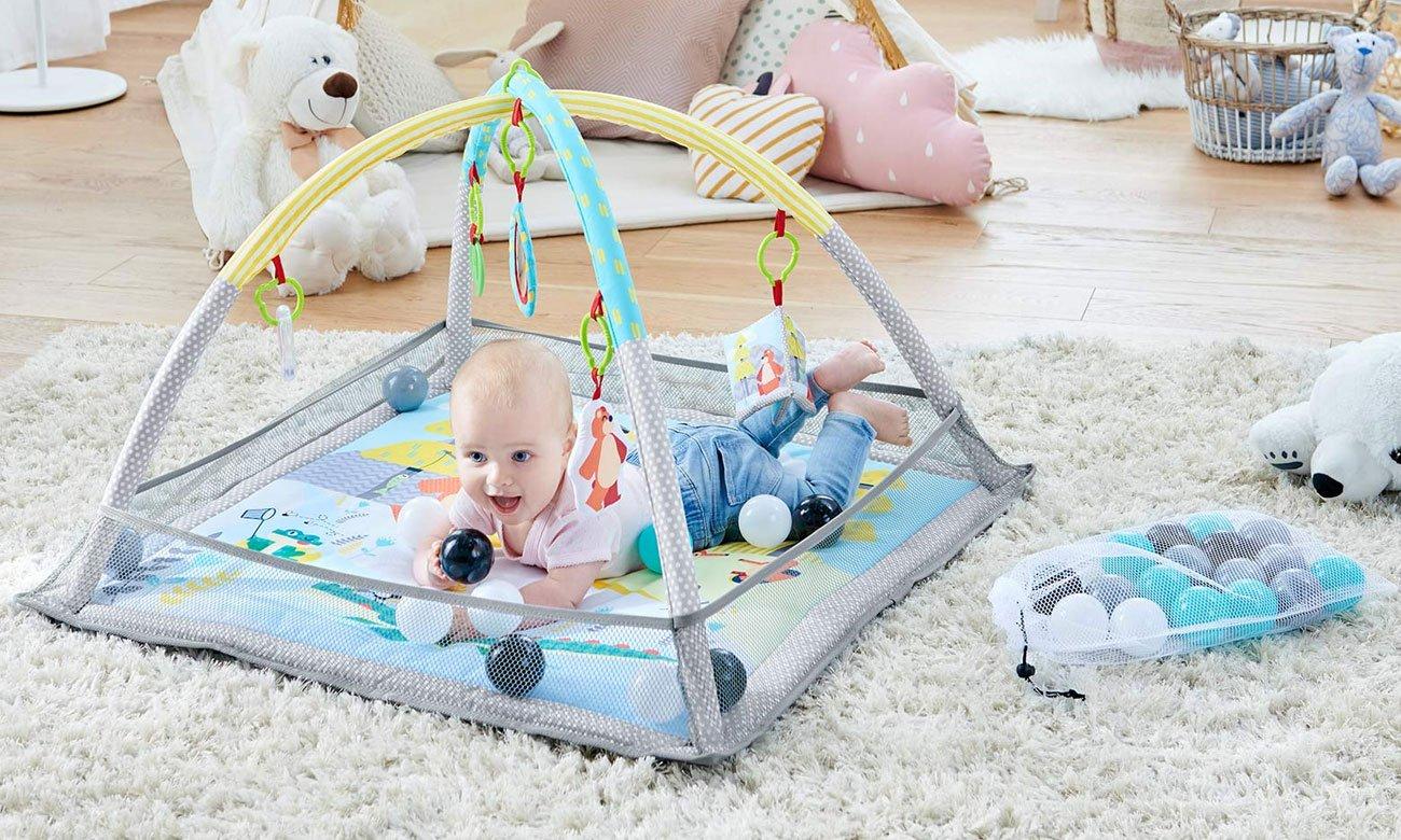 Wygodna mata edukacyjna dla niemowlaka KinderKraft MilyPlay