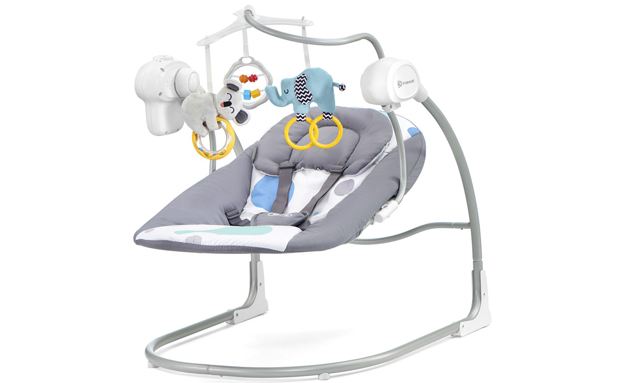 Hustawka elektryczna dla niemowląt KinderKraft Minky Mint 2w1