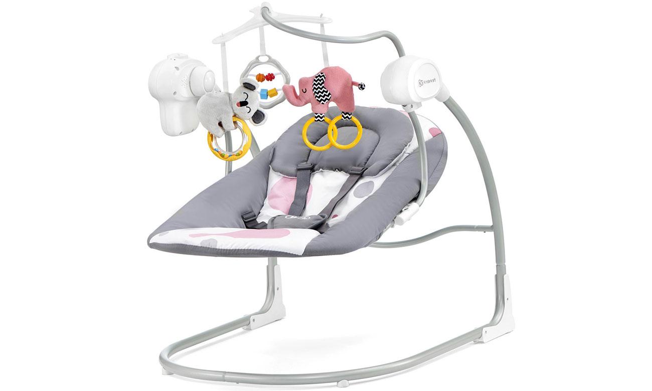 Hustawka elektryczna dla niemowląt KinderKraft Minky Pink 2w1