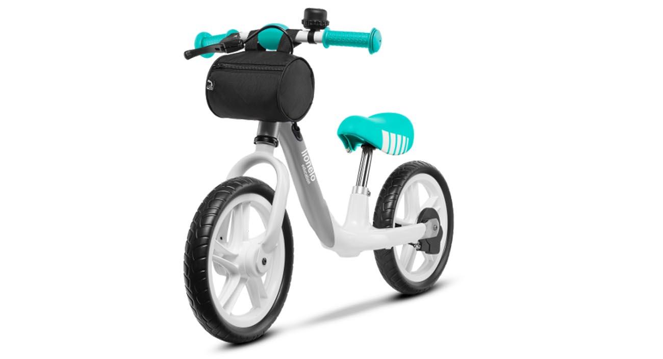 Rowerek biegowy Lionelo Arie wyposażony w antypoślizgowe rączki