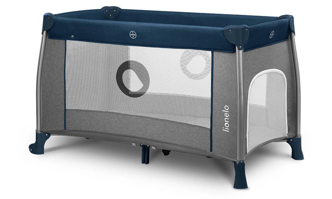 Dwupoziomowe łóżeczko turystyczne Lionelo Thomi Blue Navy