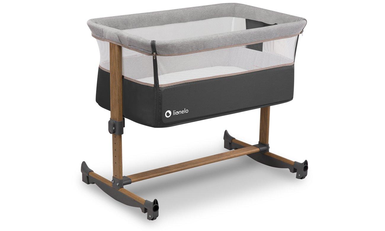 Lionelo Leonie - łóżeczko dziecięce 3w1 Grey Stone