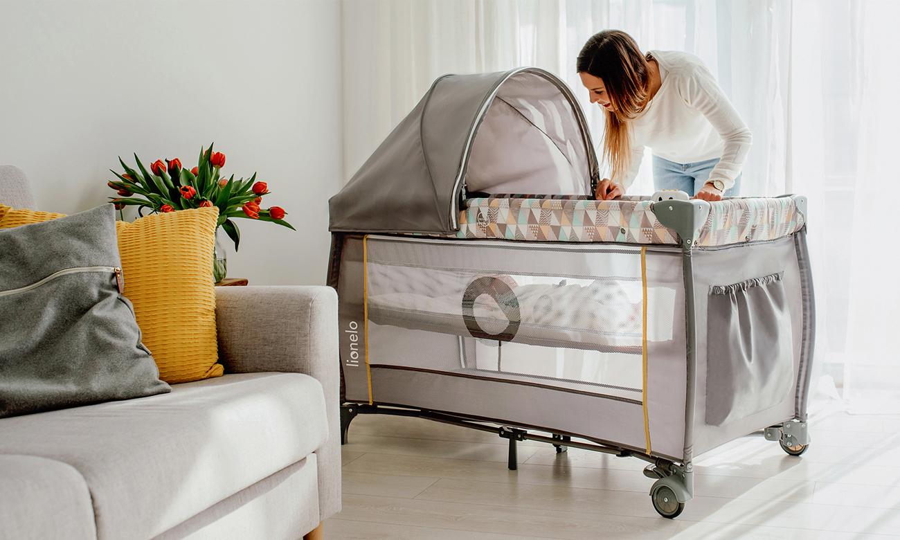 Łóżeczko składane Lionelo Sven Plus