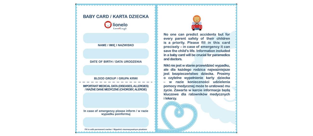 Karta Dziecka oraz osłonki w zestawie