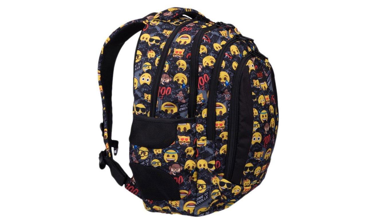 Majewski Plecak szkolny Emoji Yellow II BP-04 5903235206030