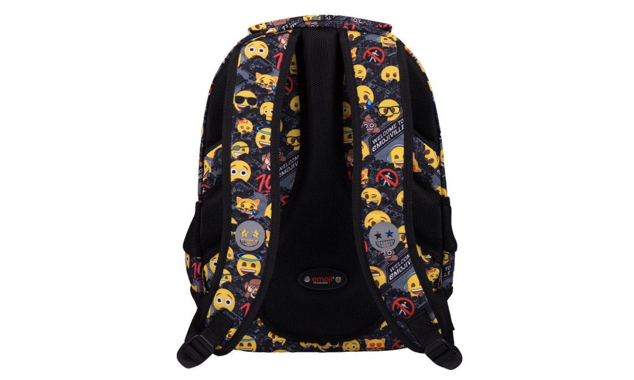 Majewski Plecak szkolny Emoji Yellow II BP-32 5903235206085