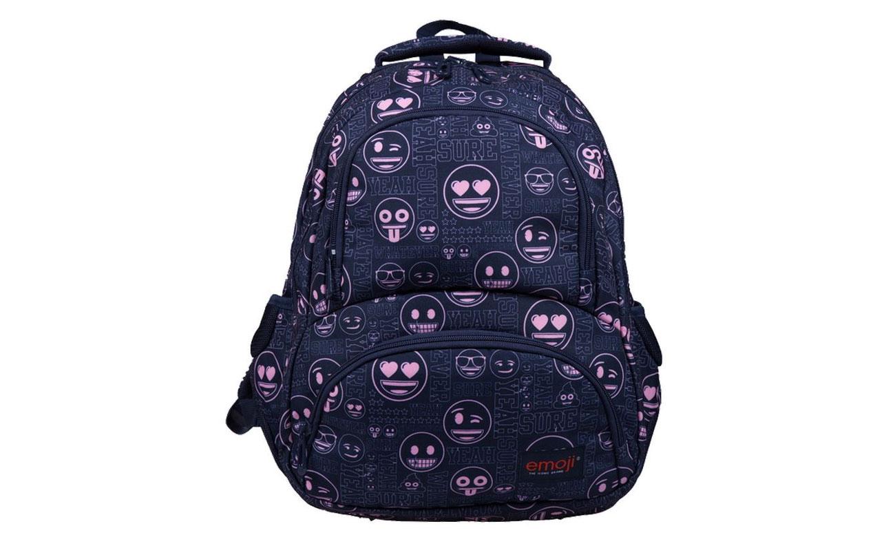 Majewski Plecak szkolny Emoji Pink BP-07 5903235207334