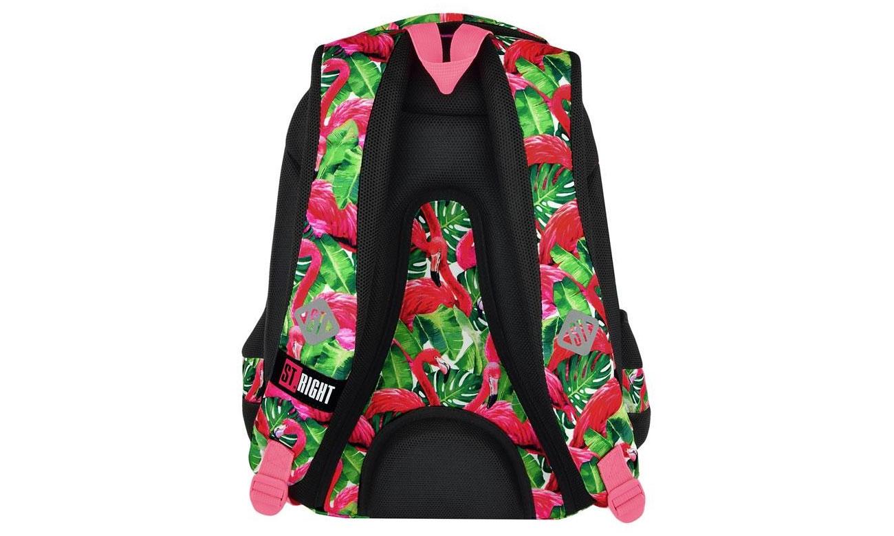 usztywniany plecak majewski Flamingo Pink & Green