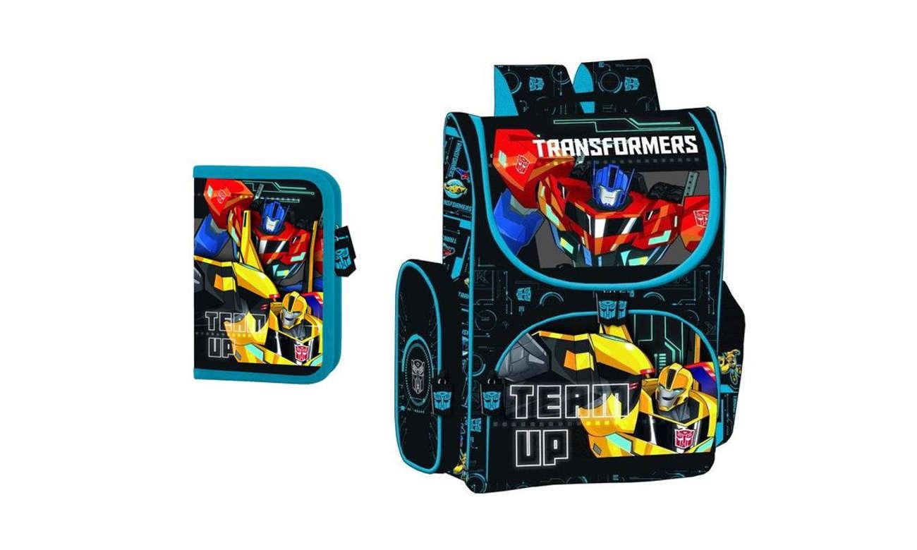 b5ff6e279ede6 Majewski Tornister szkolny Transformers + piórnik - Plecaki - Sklep ...