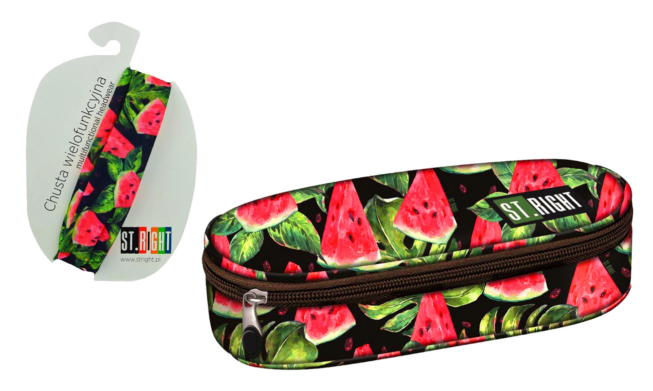 2d50acbd069ab Majewski ST.Right Piórnik saszetka Watermelon PC-01 chusta wielofunkcyjna
