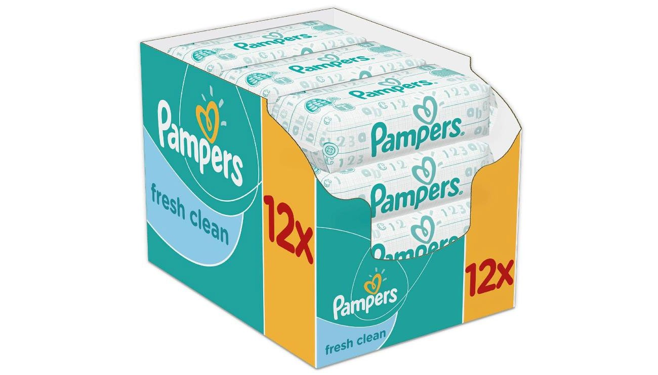 PAMPERS Baby Fresh Clean 12x64szt