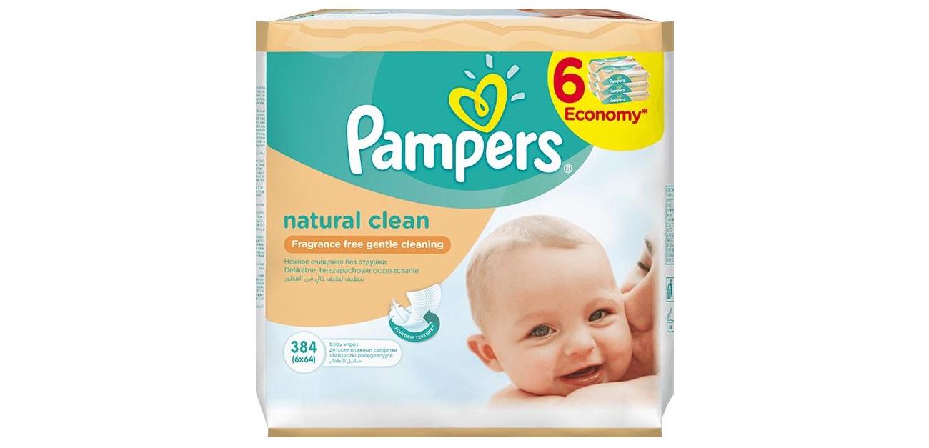 pampers Chusteczki Natural Clean 64 szt. z balsamem