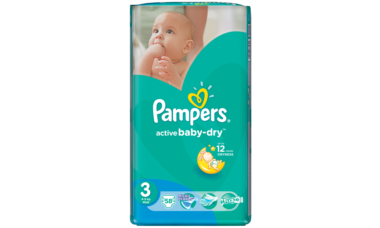 pampers active dry rozmiar 3 4 9 kg