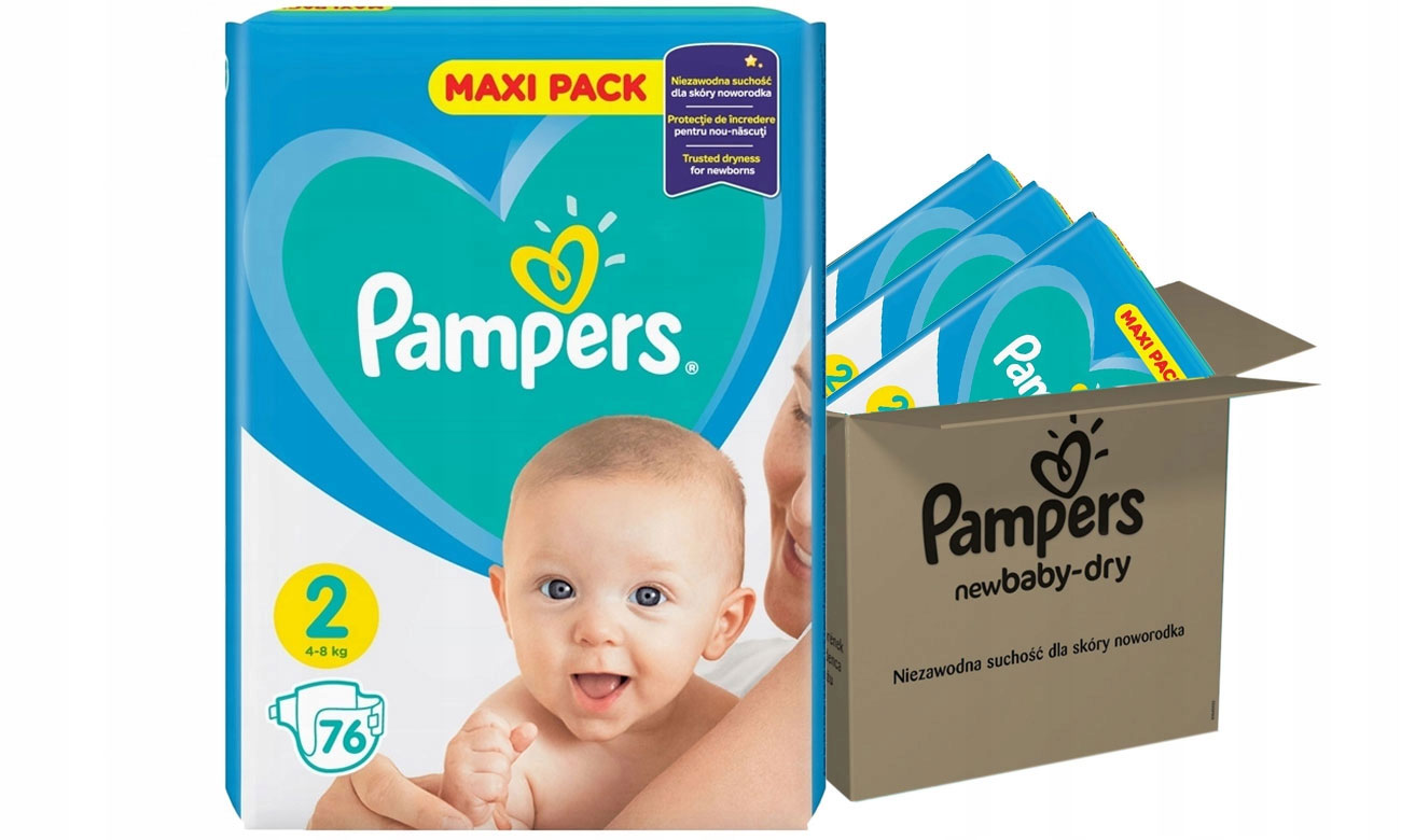 Pampers New Baby 2 Mini 4-8 kg 228 szt.