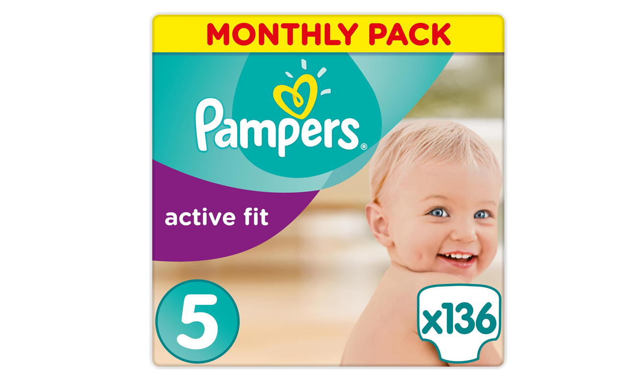 Pampers Active Fit 5 Junior Na Miesiąc 136szt