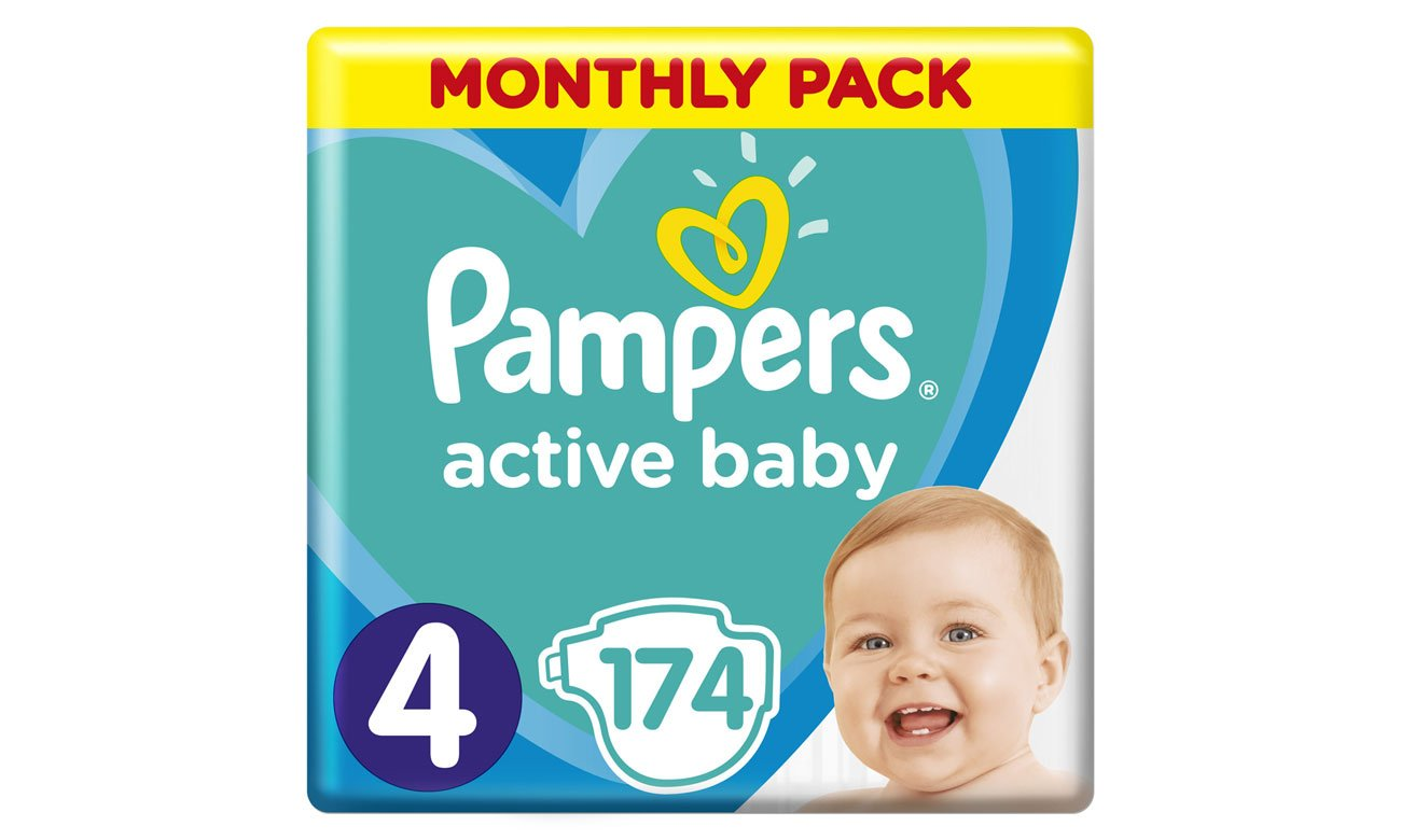 Pieluchy Pampers Active Baby 4 Maxi 9-14kg 174 szt.