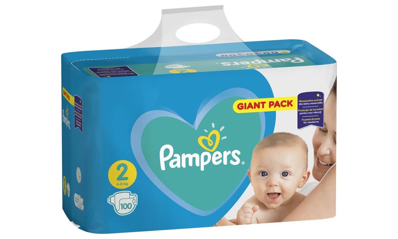 pampers new baby mini 2 4-8 kg zapas 100 sztuk
