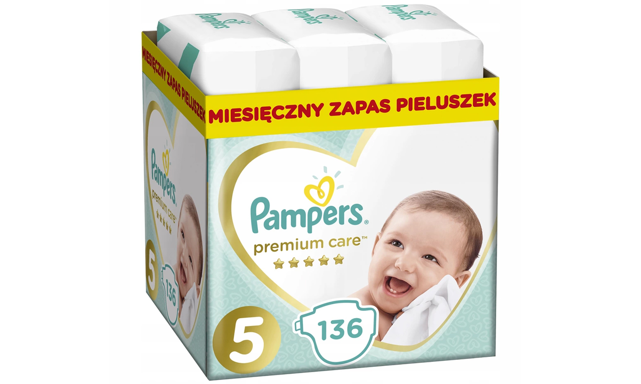Pampers Premium Care 5 Junior 11-16kg 136 szt