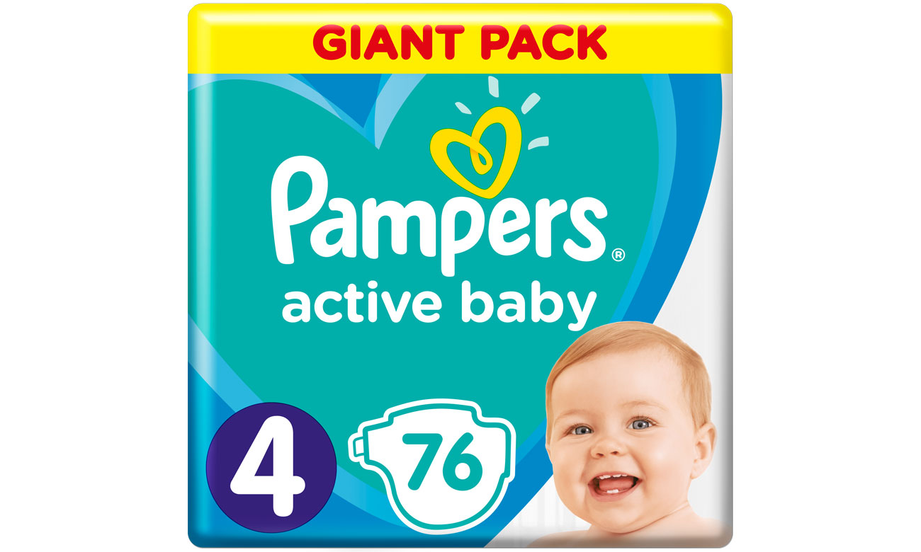 Pampers Active Baby 4 Maxi 9-14 kg 76 szt.