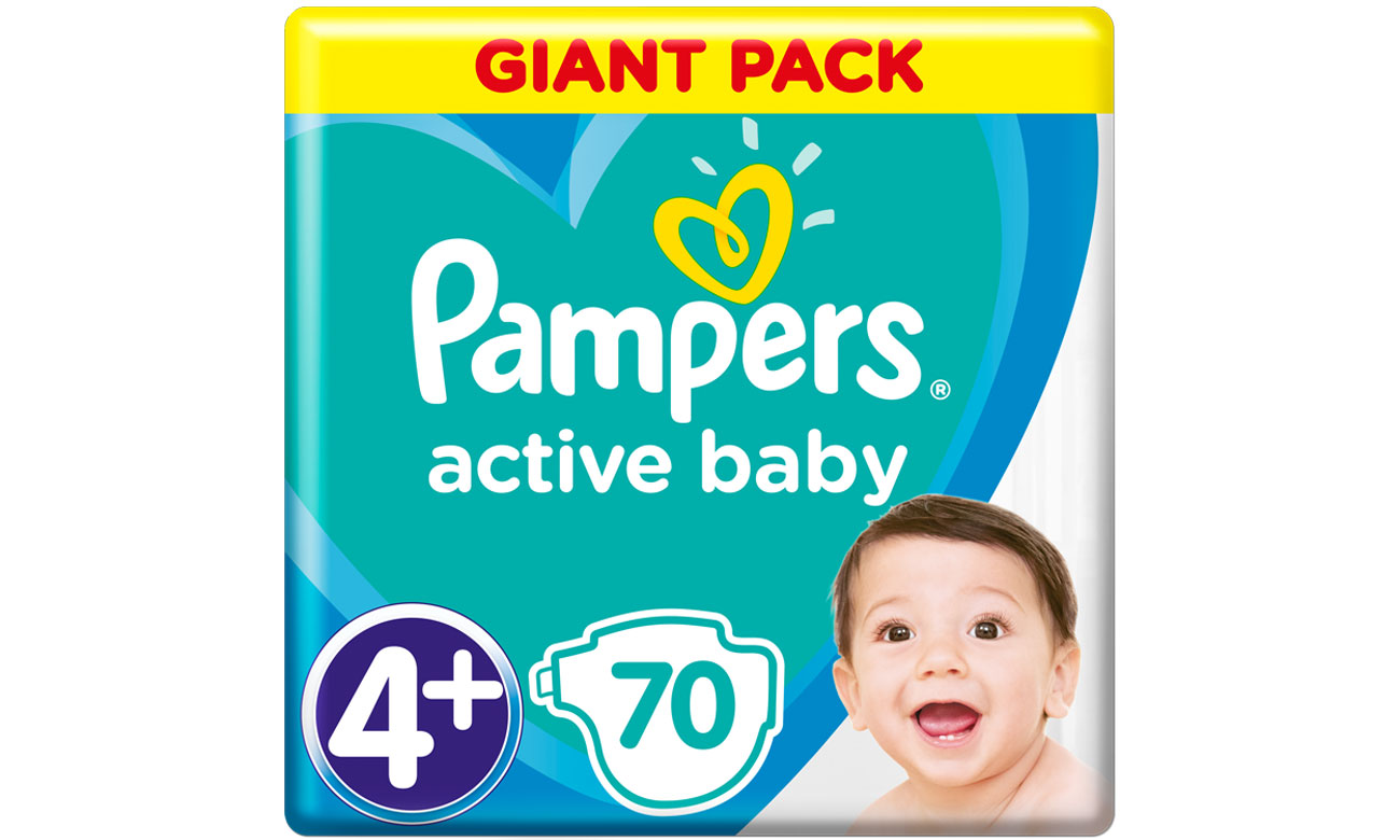 Pampers Active Baby 4+ Maxi 10-15 kg 70 szt. 8001090949813